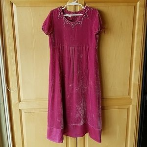 Monsoon silk blend velvet dress